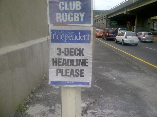 3-deck headline