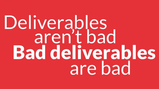 Bad deliverables