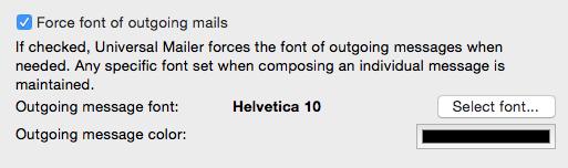 Force font