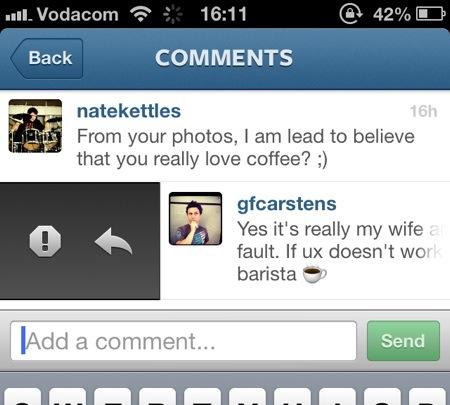 Instagram replies