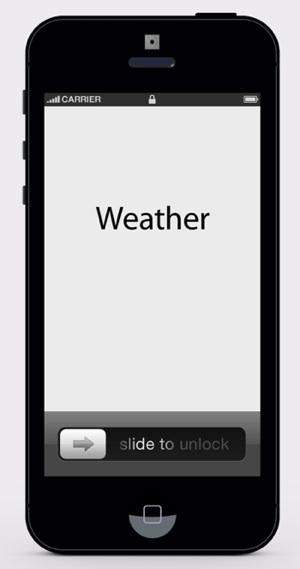 Merlin Mann minimalist weather app