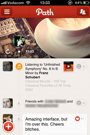path user interface