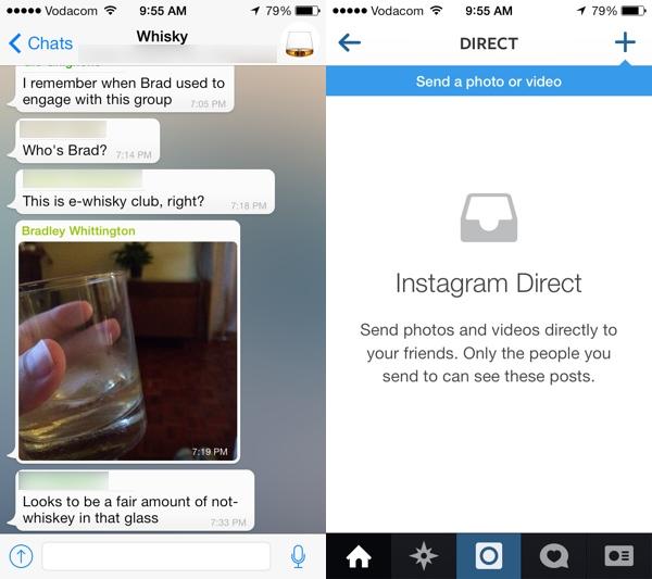 Whatsapp Instagram Direct
