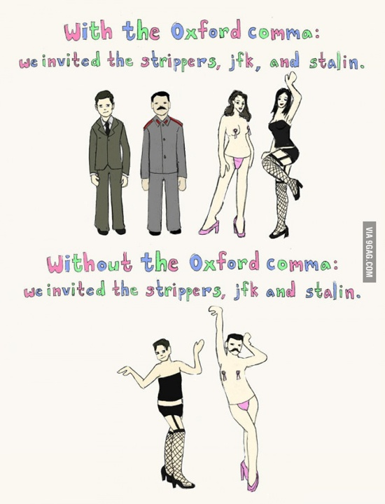 Why Oxford Comma